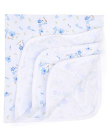 Simply Wrapper Animal Print - White Blue