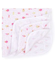 Simply Wrapper Ice Cream Print - White Pink