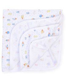 Simply Wrapper Ice Cream Print - White Blue