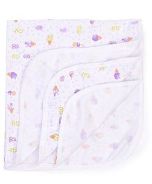 Simply Wrapper Ice Cream Print - White Purple