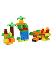 Mega Bloks First Builders Build A Dinosaur 70 Peices - Multicolor