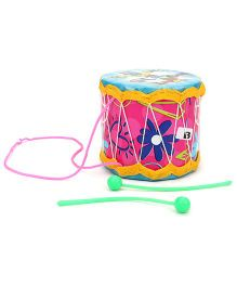 Mansaji Rock Drum Pop Dance Print - Pink & Sky Blue