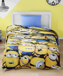 SPACES Minions Printed Cotton Kids Single Bed Comforter - Yellow