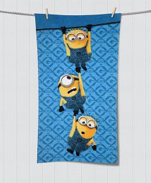 SPACES Minions Print Kids Cotton Bath Towel - Blue
