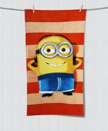 Spaces Minions Print Kids Cotton Bath Towel - Multi Color