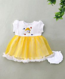 Adores Summer Baby Dress & Bloomer Set - Yellow