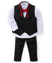 Adores Stunning Gentlemen's Party Wear Suit - Red Black & White