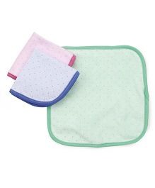 Pink Rabbit Hand & Face Towels Clothes Pack Of 3 - Green Pink Bluue