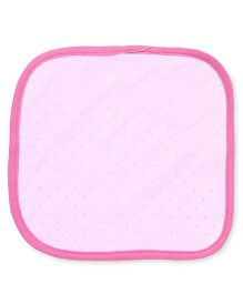 Pink Rabbit Hand & Face Towels - Pink Blue Green