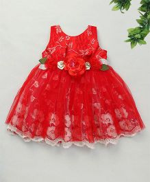 Adores Gorgeous Floral Dress - Red