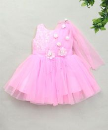 Adores Floral Princess Dress - Pink & White