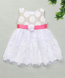 Adores Floral Lace Dress - White & Off White