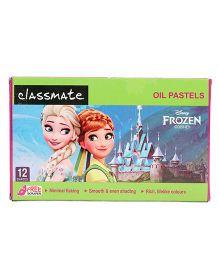 Classmate Frozen Oil Pastel 12 shades - Multicolor