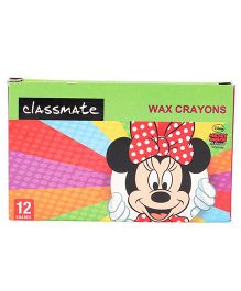 Classmate Wax Crayons Mickey Mouse - Multicolor 12 Shades