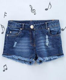 One Friday Girls Denim Shorts - Blue