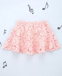 One Friday Girls Lacy Peplum Skirt - Pink