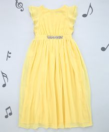 One Friday Girls Long Maxi Party Dress - Yellow