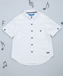 One Friday Boys Solid Pattern Shirt - Off White