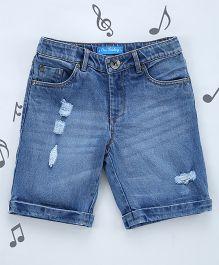 One Friday Boys Soft Denim Shorts - Blue