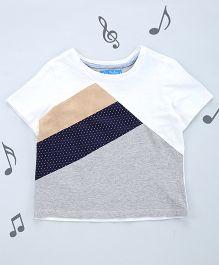 One Friday Boys Round Neck T-Shirt - Off White