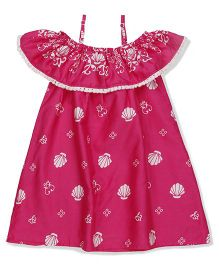 Pinehill Singlet Frock With Print - Pink