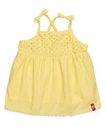 Pinehill Singlet Designer Partywear Top - Yellow