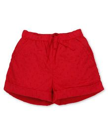 Pinehill Shorts With Drawstring - Red