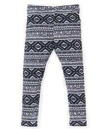 Pinehill Full Length Printed Leggings - Grey Melange