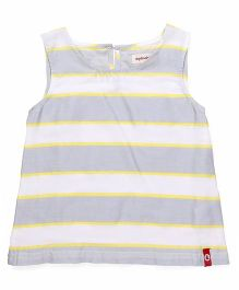 Pinehill Sleeveless Tee Stripes Print - Grey