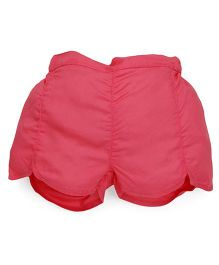 Pinehill Plain Solid Color Shorts - Coral Pink