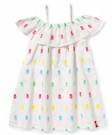 Pinehill Singlet Frock With Print - White