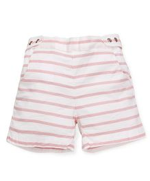 Pinehill Striped Shorts - White