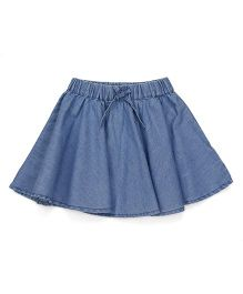 Pinehill Denim Skirt With Drawstring - Blue