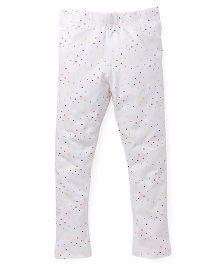 Pinehill Full Length Leggings Allover Print - White