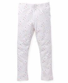 Pinehill Full Length Leggings Allover Print - White
