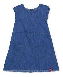 Pinehill Short Sleeves Denim Frock - Blue