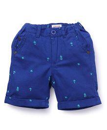 Pinehill Printed Shorts - Navy