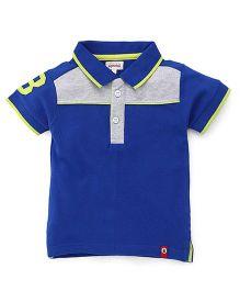 Pinehill Collar Neck T-Shirt - Electric Blue