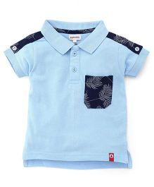 Pinehill Half Sleeves T-Shirt With Pocket - Light Blue