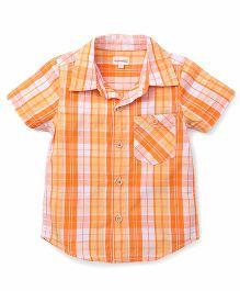 Pinehill Half Sleeves Checks Shirt - Orange