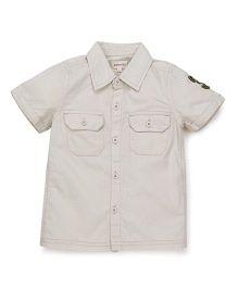 Pinehill Half Sleeves Plain Shirt - Beige