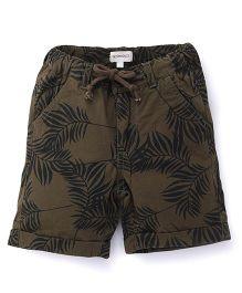 Pinehill Printed Shorts - Brown & Military Green