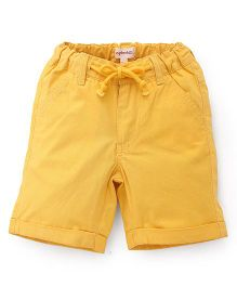 Pinehill Plain Shorts With Drawstrings - Yellow