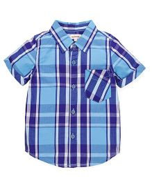 Pinehill Half Sleeves Checks Shirt - Blue