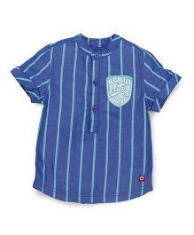 Pinehill Half Sleeves Stripes Shirt - Blue