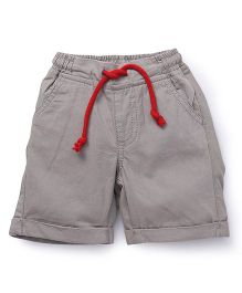 Pinehill Plain Shorts With Drawstrings - Khaki Grey