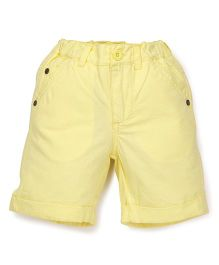 Pinehill Solid Color Shorts - Light Yellow