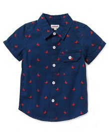Pinehill Half Sleeve Printed Shirt - Navy