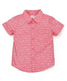 Pinehill Half Sleeves Printed Shirt - Pink