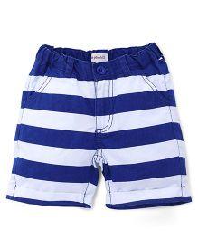 Pinehill Striped Shorts - White & Blue